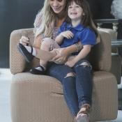 Fotos para campaña publicitaria de los zapatos Gimbo junto a Jessica Regueira y su hija